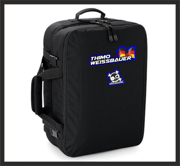 Track-Bag with name and flag
